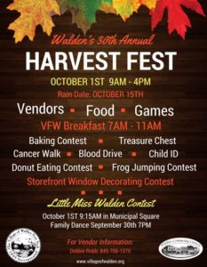 Walden Harvest Fest Flyer 2016